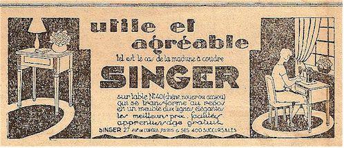 Collectionneur machine a coudre singer ancienne